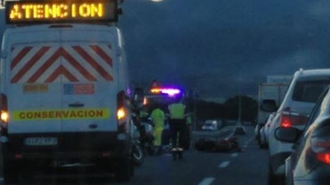 Accidente en la A7 dirección Algeciras