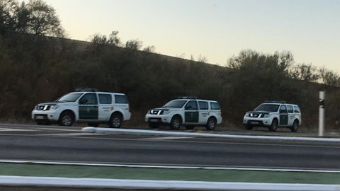 Guardia Civil durante la operación