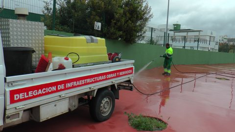 16 abril-trabajos desinfeccion san roque